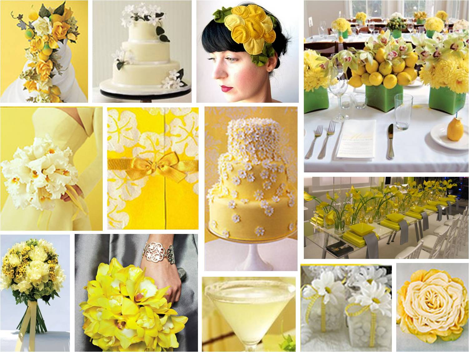 Decoration mariage osez le jaune mariage en vogue for Decoration jaune