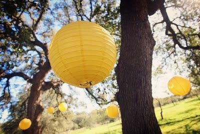 lanterne papier jardin