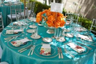 Decoration De Table De Mariage En Turquoise Et Corail Mariage En Vogue