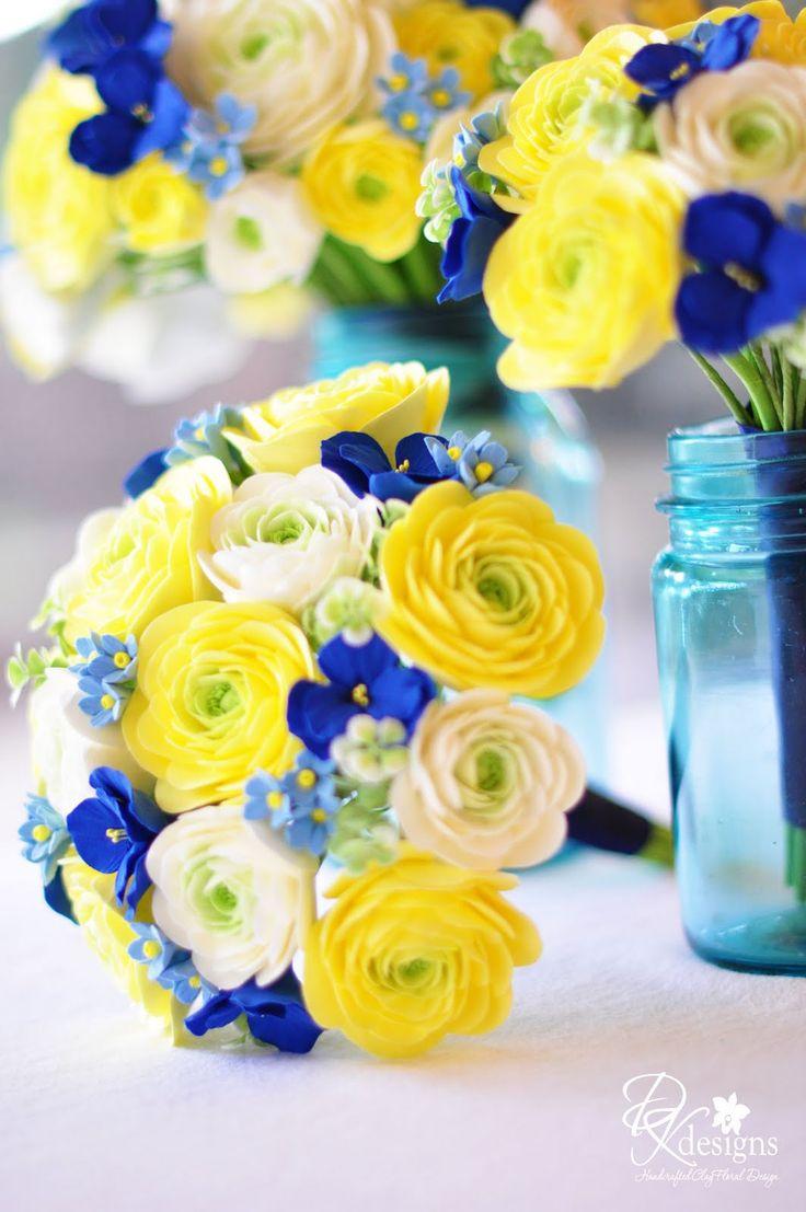 Un Mariage En Jaune Et Bleu Les Tables Mariage En Vogue