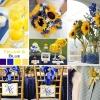 mariage-bleu-marine-jaune-vif
