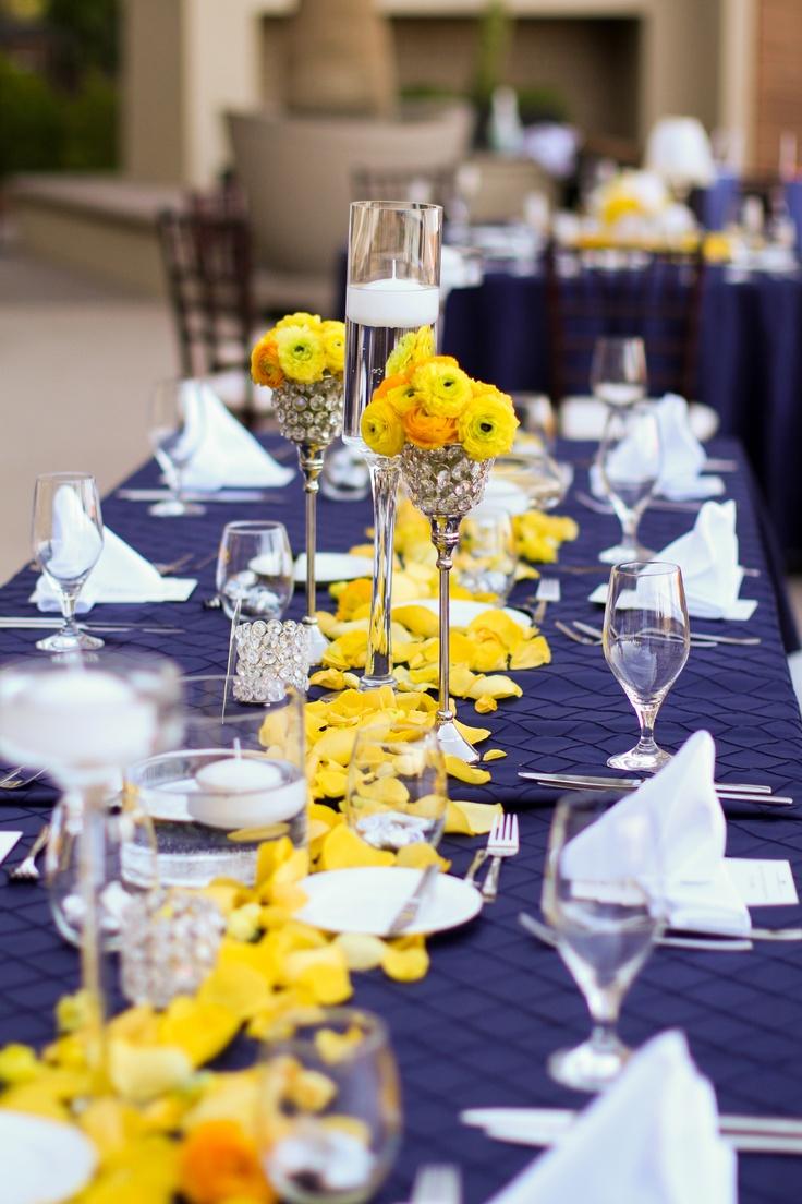 Un mariage en jaune et bleu les tables mariage en vogue for Deco bleu et jaune