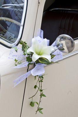 Decoration retroviseur voiture - Decoration voiture mariage sans fleur ...