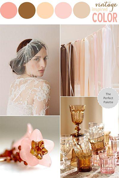 D co de mariage rose poudr et chocolat mariage en vogue - Deco rose poudre ...